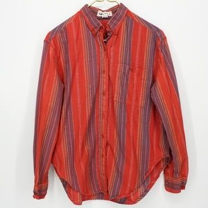 Middy & Co Red Striped Button Up Shirt